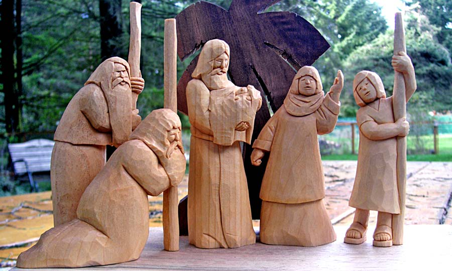 nativity keepsake carving grouping