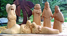 nativity carving keepsake